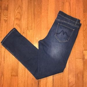 NY&Co dark wash denim straight leg jeans